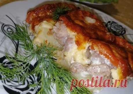 (33) ⚜️Мясо по-французски с запеченным картофелем - пошаговый рецепт с фото. Автор рецепта Надежда 🌳 . - Cookpad