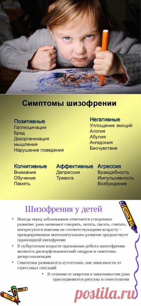 Шизофрения у детей признаки, симптомы, лечение