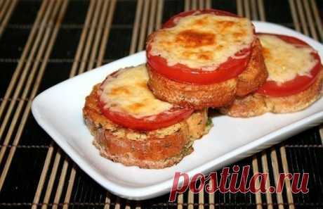 Как приготовить гренки с помидорами и сыром к завтраку. - рецепт, ингредиенты и фотографии