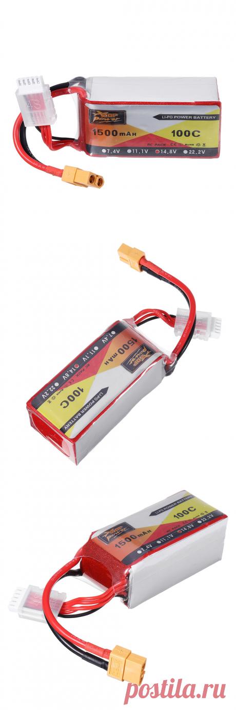 zop power 14.8v 1500mah 100c 4s lipo battery xt60 plug for shen drones squirt v2 Sale - Banggood.com