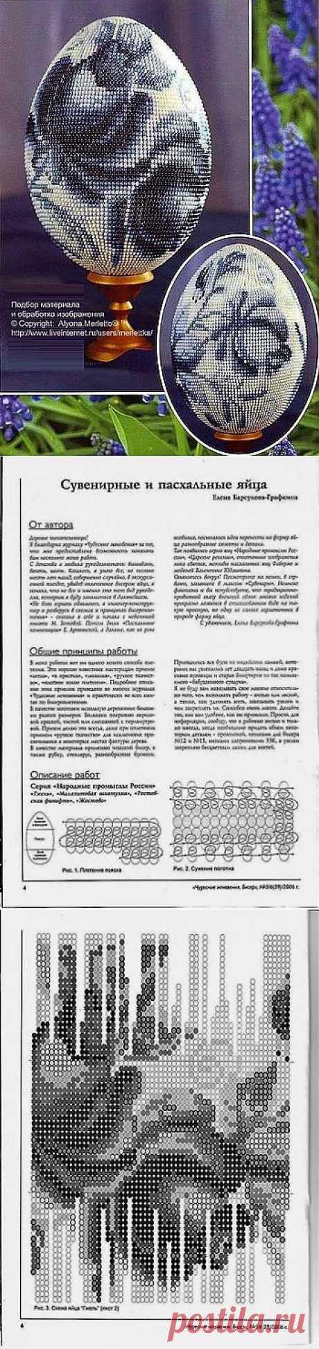 Схемка для пасхальных яиц (ГЖЕЛЬ) / Разнообразные поделки из бисера: схемы,мастер классы / PassionForum - мастер-классы по рукоделию