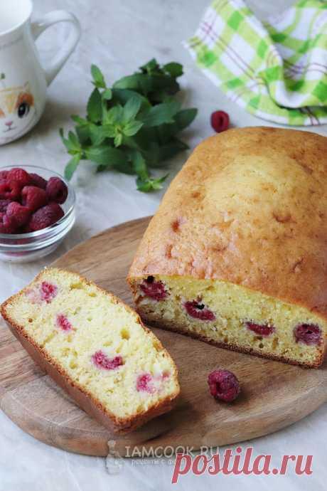 Заливной пирог с малиной на кефире — рецепт с фото пошагово