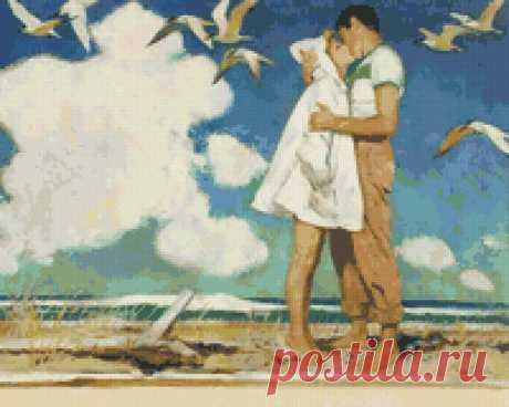 Предпросмотр схемы вышивки «Поцелуй» - Вышивка крестом