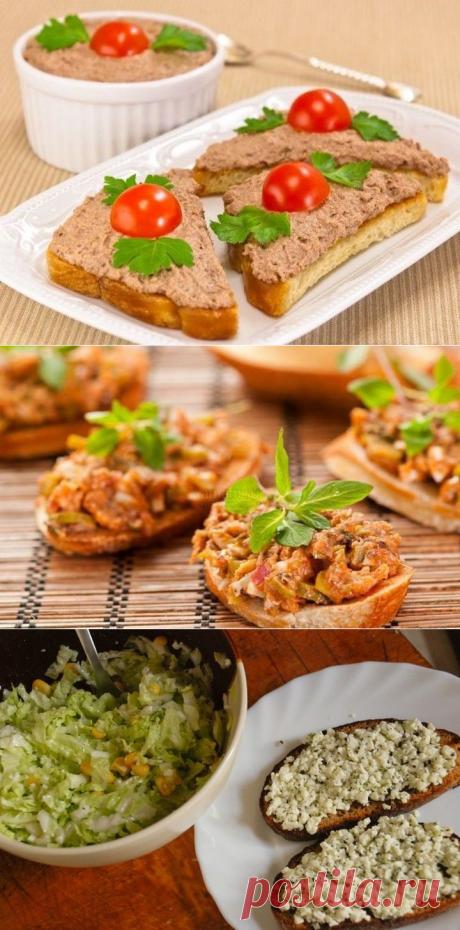 Быстрые простейшие и вкуснейшие намазки на хлеб