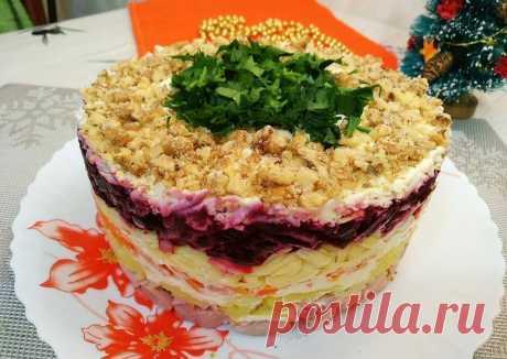 """Слоеный салат """"ГЕНЕРАЛ"""" - пошаговый рецепт с фото. Автор рецепта Светлана Миронова 🌱🌳 . - Cookpad"""