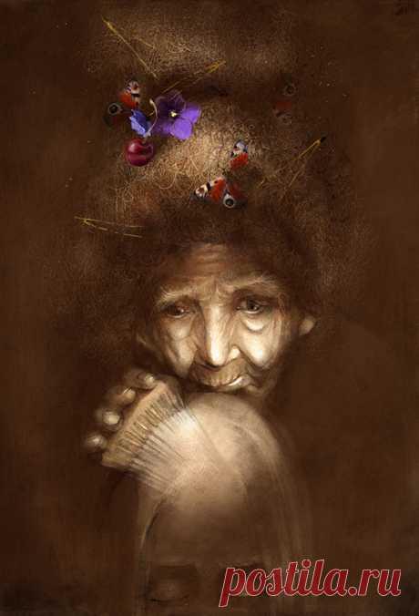 Иллюстрация Старушка, которая умела колдовать. Юлия Макарова-Томина