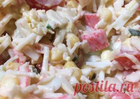 (11) Салат с крабовыми палочками из того, что было в холодильнике - пошаговый рецепт с фото. Автор рецепта Riddly . - Cookpad