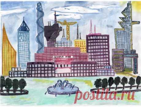 Как нарисовать город (77 фото) - советы мастеров с пошаговым описанием этапов как нарисовать город