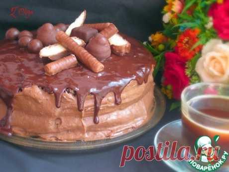 Торт с шоколадно-банановым кремом – кулинарный рецепт