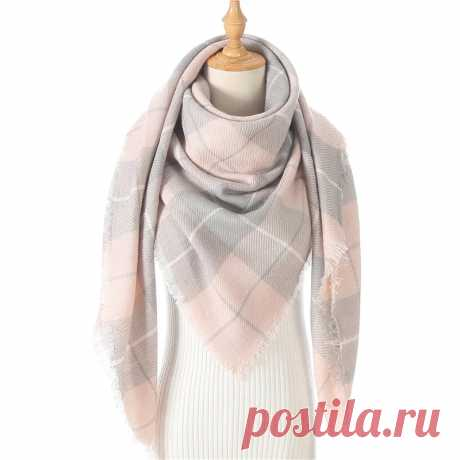 Женский трикотажный зимний шарф кашемировый шарф из пашмины женский плед Теплые треугольные шарфы одеяло шали бандана накидки пончо 2020