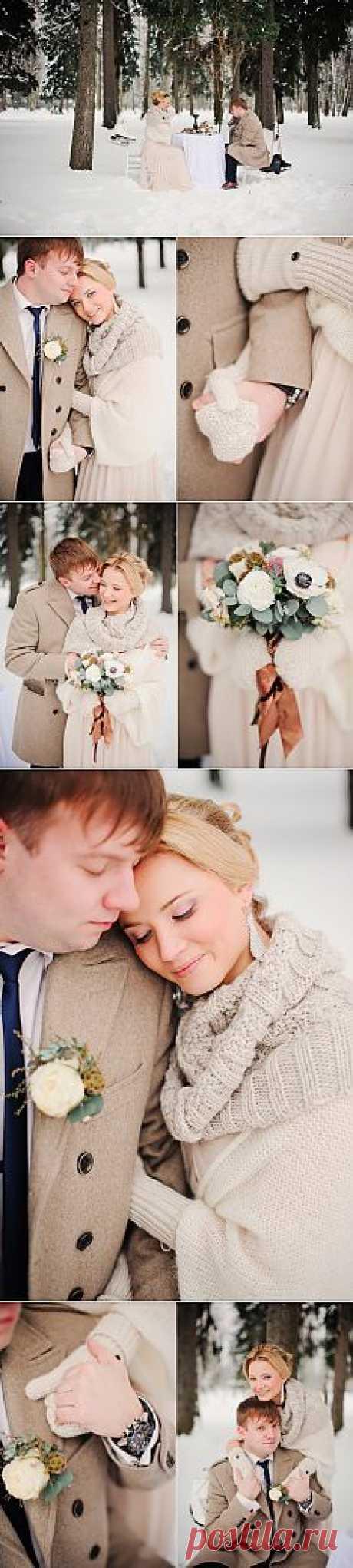 Зимняя нежность: свадьба Виктории и Андрея - WeddyWood
