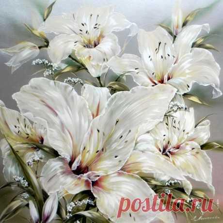 Прекрасной лилии цветок...