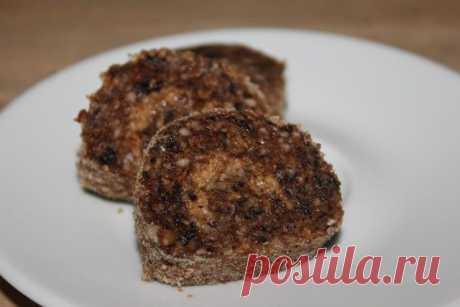 La receta del postre magro crudo: el panecillo con las ciruelas pasas:: las Recetas de cocina