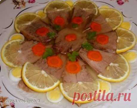 Заливное из свиного языка - рецепт с фото / Простые рецепты