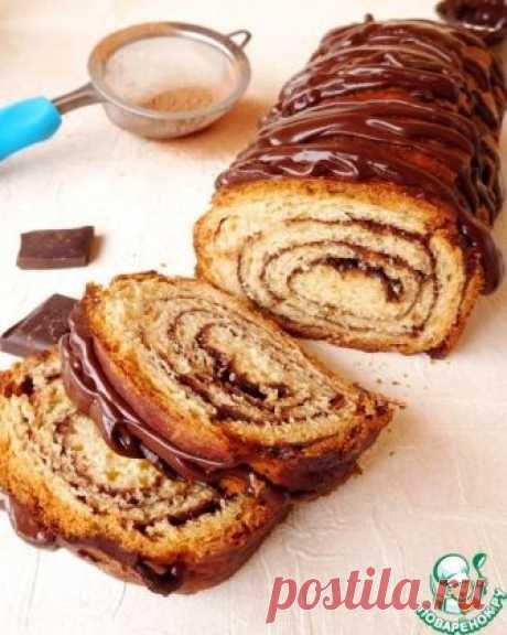 Шоколадный пирог-рулет - кулинарный рецепт