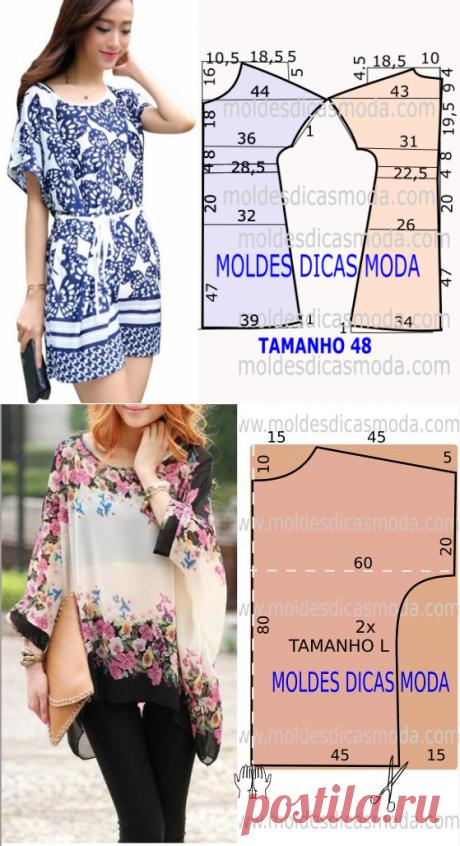 Простые выкройки блузок и туник №1 - Подружки - медиаплатформа МирТесен