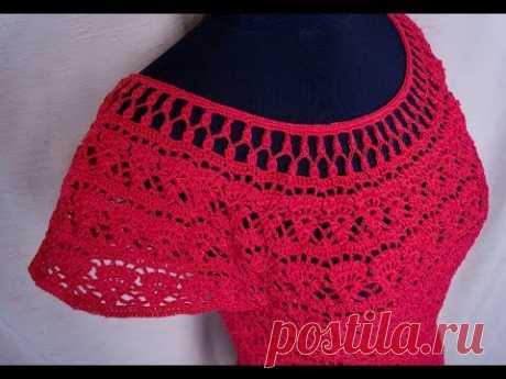 Топ, блуза и платье летнее крючком, часть 1. Top, blouse and summer crochet dress, part 1.