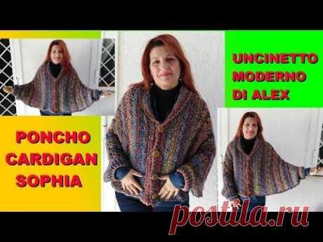 Poncho Cocoon Cardigan Sophia Tutorial Uncinetto Facile Ogni Taglia