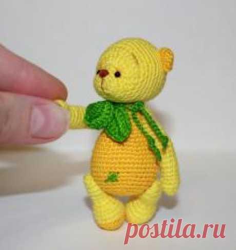 """""""Вкусный мишка"""" Лимончик - МК по вязанию игрушек - Форум почитателей амигуруми (вязаной игрушки)"""