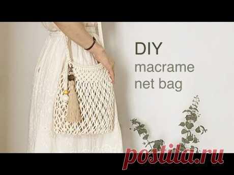 DIY | macrame net bag | 마크라메 네트 백
