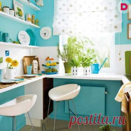 Turquoise color in an interior