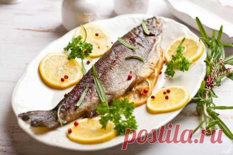 Рыба запеченная в духовке с лимоном
