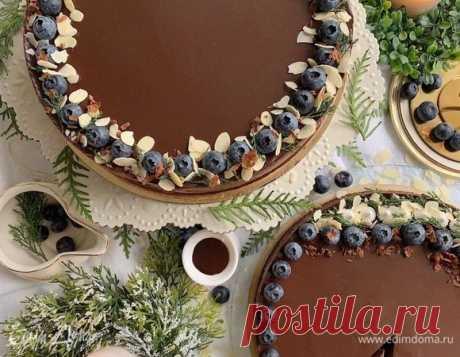 Шоколадный чизкейк без выпечки, рецепт с ингредиентами: шоколад черный горький 85%, сливочное масло, печенье шоколадное