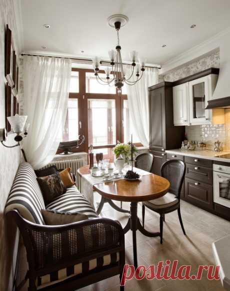 Дизайн кухни с диваном (16 фото), варианты интерьера кухни с диваном