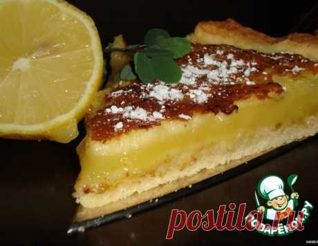 Лимонный пирог фасон «Крем-брюле»