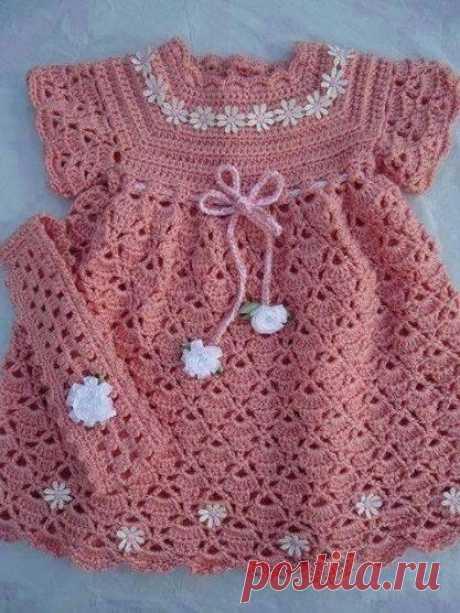 Милое летнее платье для девочки из категории Интересные идеи – Вязаные идеи, идеи для вязания