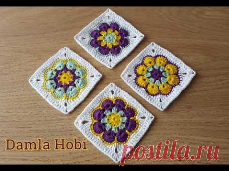 Afrika Çiçeği Motif yapılışı/Tığ işi motifler