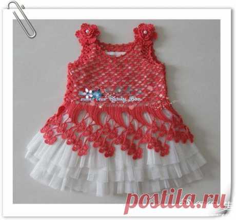 Платьице для девочки с цветочными лучами