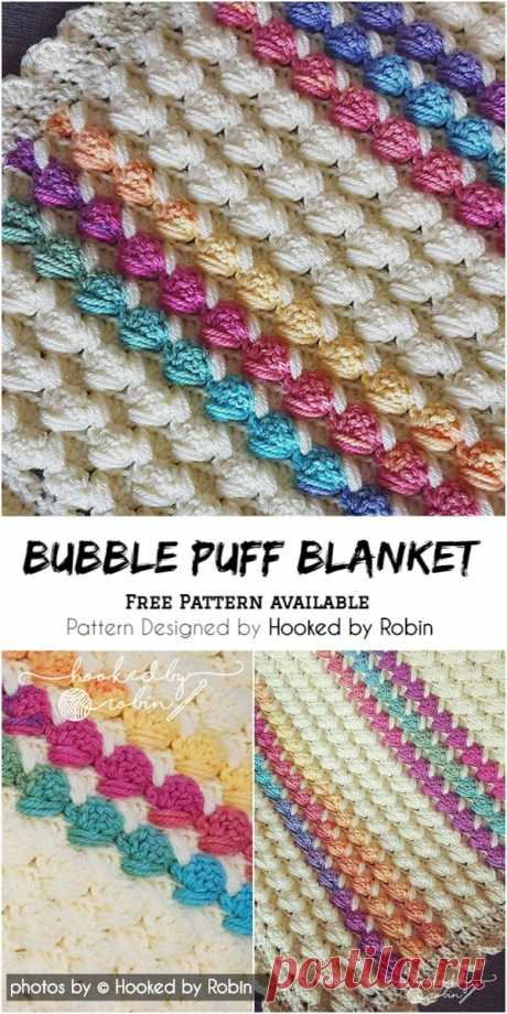 Bubble Puff Blanket - Free Pattern Available #crochet #babyblanket #crochetblanketpattern #babyblanketpattern #crochetpatternfree #crochetpatternforblanket