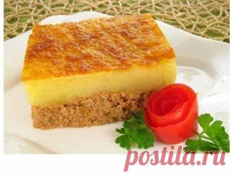 Запеканка с фаршем и картофелем | Кулинарные Рецепты