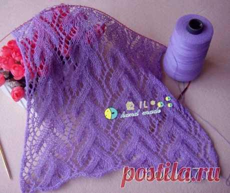 Красивый узор для палантина или шарфа   Клубок