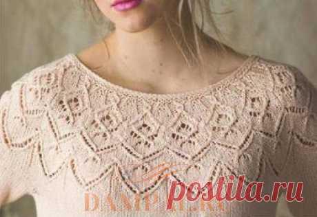 Вязаный пуловер «Целозия» — HandMade