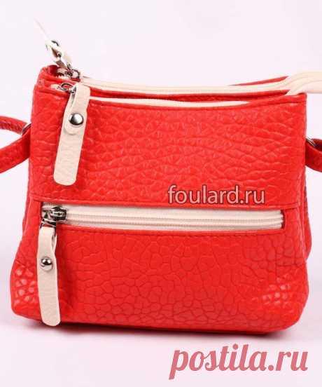 Модная красная сумка с двумя отделениями