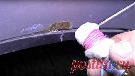 Удаление жучков и цинкование металла на авто своими руками   Выживи сам