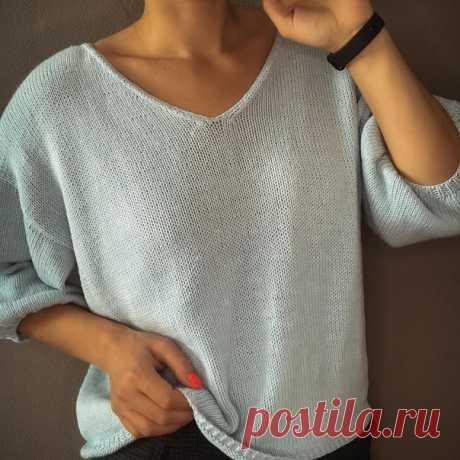 Пуловер  Источник: https://www.instagram.com/p/CF6acZfgF80/  Размер 44-46 (S-M) обхват груди 88-92 см Показать полностью…