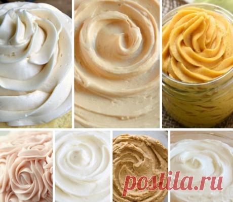 Топ-8 самых простых кремов для тортов и других десертов Сохраняйте, чтобы не забыть!