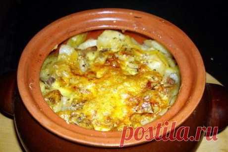Картошка в горшочках с мясом   Вкусные кулинарные рецепты