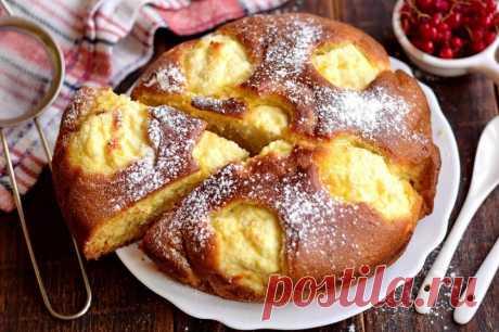 Если остался стакан кефира и есть немного творога готовлю такой творожный пирог - Простые рецепты вкусной еды