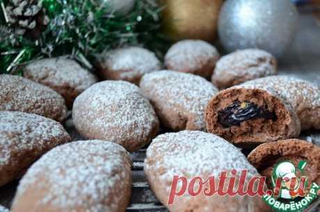 """Печенье """"Чернослив в шоколаде"""" – кулинарный рецепт"""