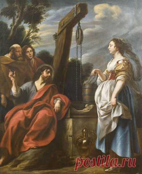 """Христос и самаритянка"", Якоб Йорданс, около 1650 года"
