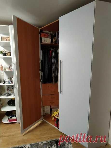 Обклеили старый рыжий шкаф белой пленкой, все подумали что купили новый! Как вам перевоплощение?   Секреты Отчаянной Домохозяйки   Яндекс Дзен
