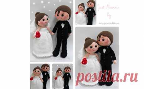 Вязаная крючком кукла «Жених и невеста». Описание Руководство по вязанию крючком игрушки «Куклы жених и невеста»
