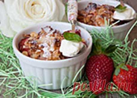 Десерт из клубники с грушами  Совсем скоро начнется сезон клубники. Если вы захотите приготовить с этой ягодой вкусный, полезный, а самое главный быстрый десерт, воспользуйтесь нашим рецептом. Это безумно вкусно и очень аппетитно и готовится всего 10-15 минут.  Ингредиенты: Показать полностью…