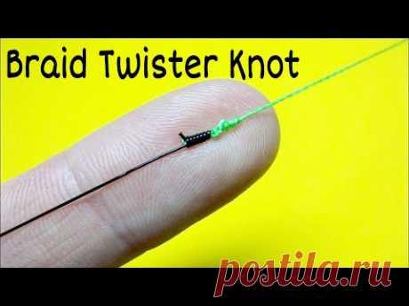 Соединительный узел braid twister knot. Как связать леску между собой. Лайфхаки и самоделки. Рыбалка - YouTube