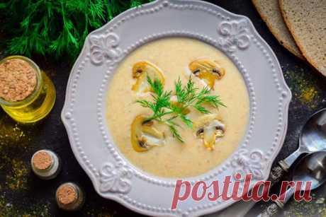 Сырный крем-суп с шампиньонами
