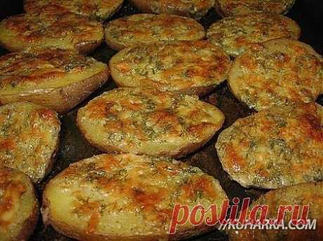 Картофель с чесночным маслом